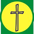 Circle cross logo for R.O.C.K. Club in Radford, VA
